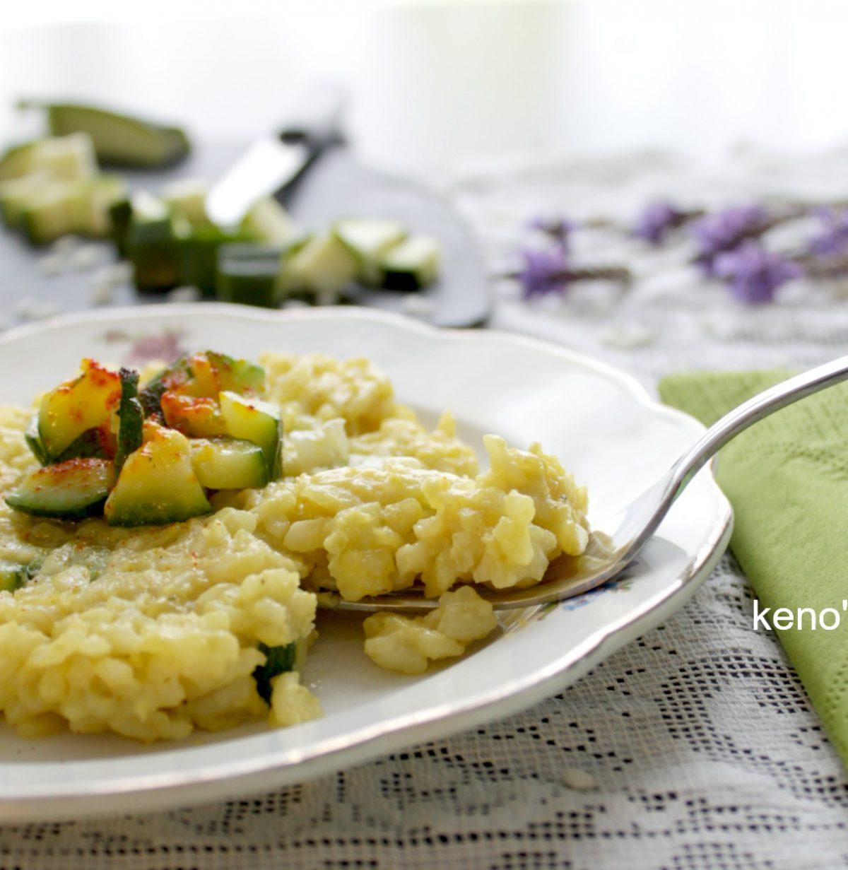 risotto zafferano e zucchine croccanti