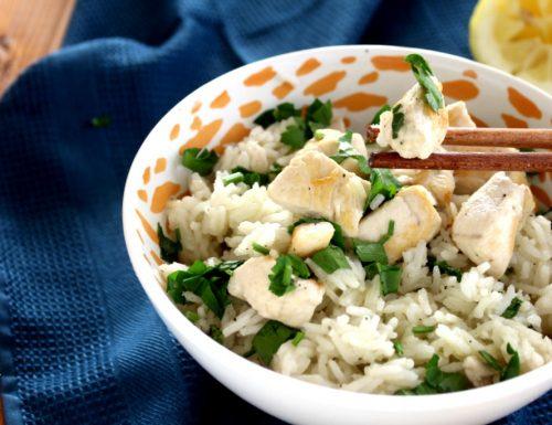 Riso con pollo al limone – ricetta facile