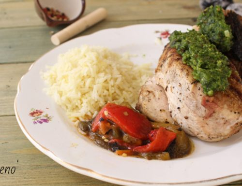 Petto di pollo con salsa al prezzemolo-ricette weber