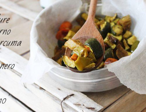 Verdure al forno alla curcuma e pepe nero-veloci e sfiziose