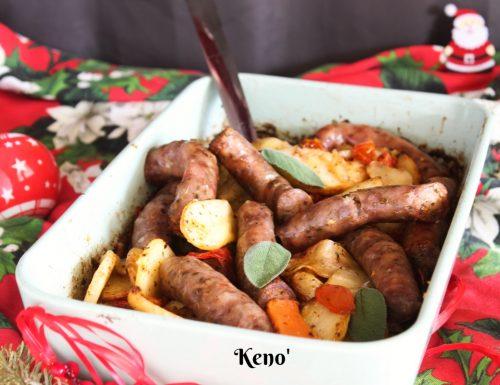 Patate e salsiccia al forno-secondo facile e veloce