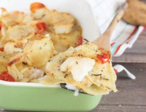 Baccalà e patate al forno-secondo di pesce