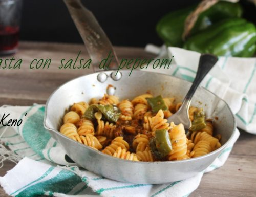 Pasta con salsa di peperoni-primo veloce e gustoso