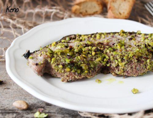 Filetto di Tonno in crosta di pistacchi-Pronto in pochi minuti
