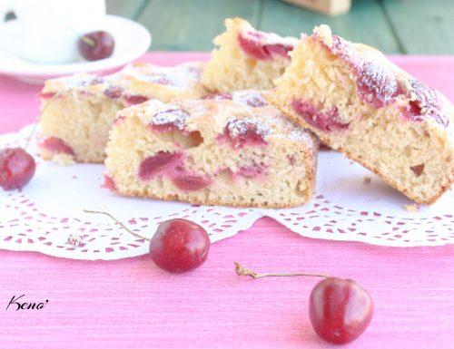 Torta di ciliege fresche e yogurt-pronta in 5 minuti