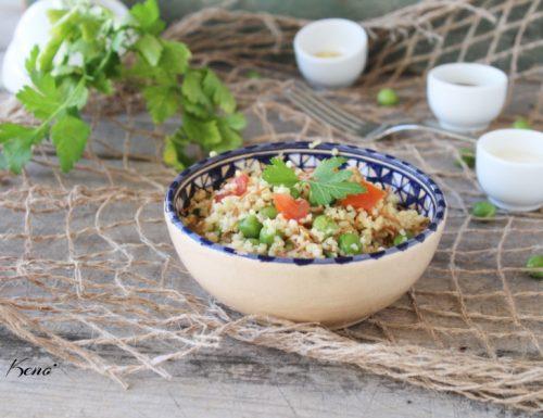 Bulgur, riso rosso e verdure