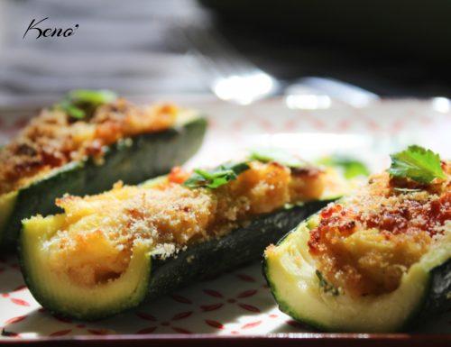Zucchine ripiene vegetariane al forno