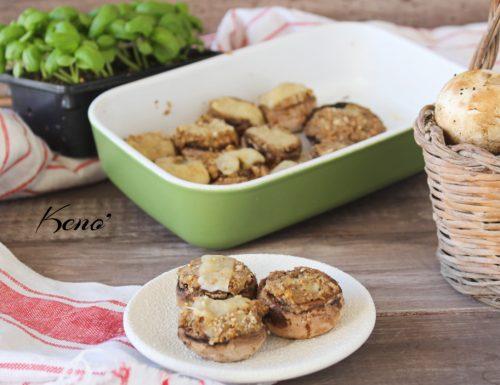 Ricetta Funghi ripieni-piatto vegetariano