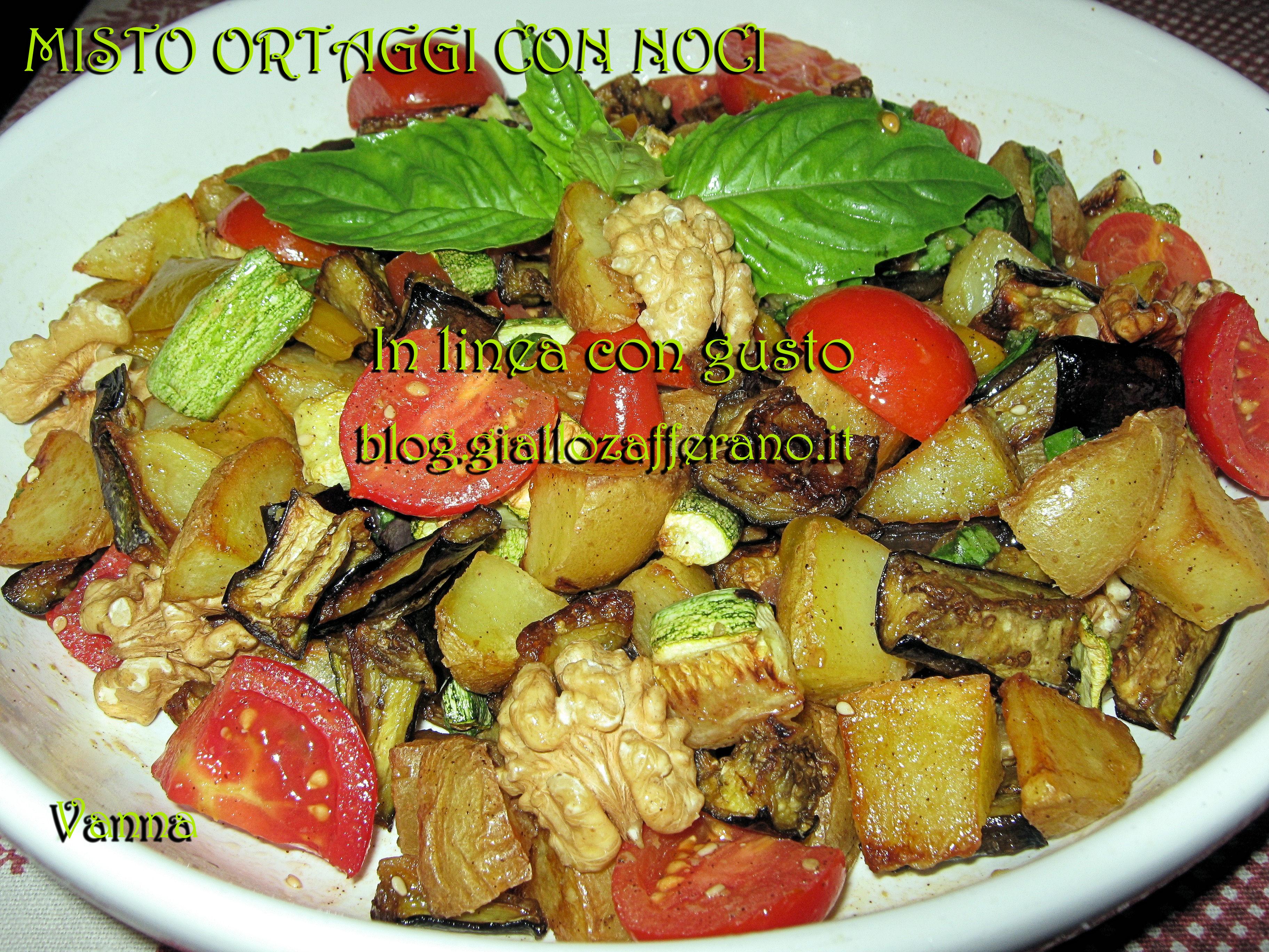 Misto ortaggi con noci in linea con gusto veg ricette for Ortaggi estivi