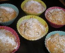 Muffin al cioccolato e mini muffin alla mele