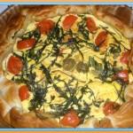 Torta salata pomodorini e rucola