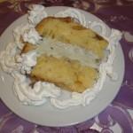 Colomba con gelato al pistacchio
