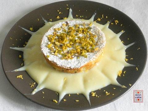 torta di ricotta con crema al limone