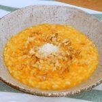 risotto alla zucca, noci e amaretti