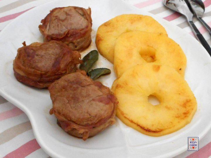Filetto di maiale al Calvados e mele