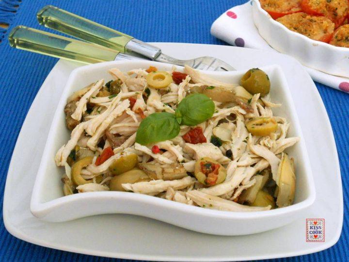 insalata di sfilacci di pollo