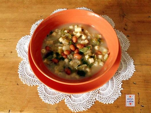 minestra di fagioli e scarola