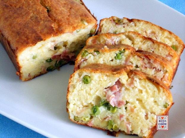 Plumcake salato con farina di mais