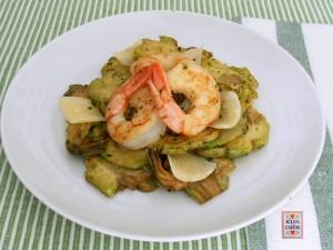 carciofi, code di gamberi e parmigiano 1