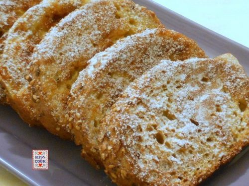 PANE PERSO  –  FRENCH TOAST (cotto in forno)