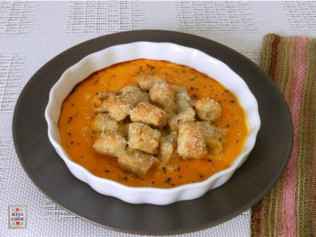 Gnocchetti con farina integrale e crema di zucca