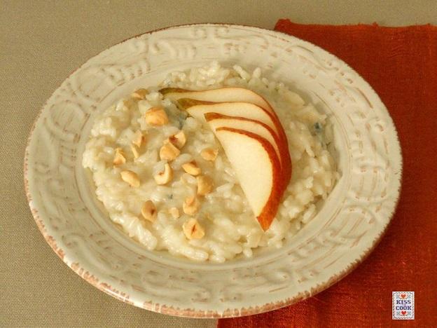 risotto gorgonzola pere e nocciole