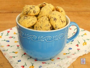 Biscotti polentini con cioccolato,1