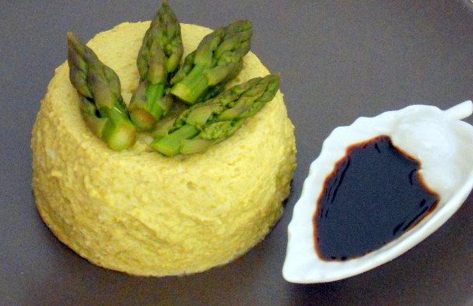 budino di asparagi con aceto balsamico