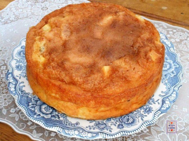 Torta di mele con cottura in due tempo