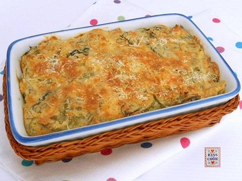 teglia di carciofi e pane al forno