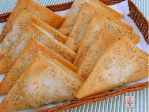 triangolini di pasta fillo con tonno e patate