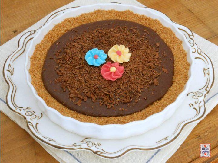 crostata al cioccolato, senza cottura