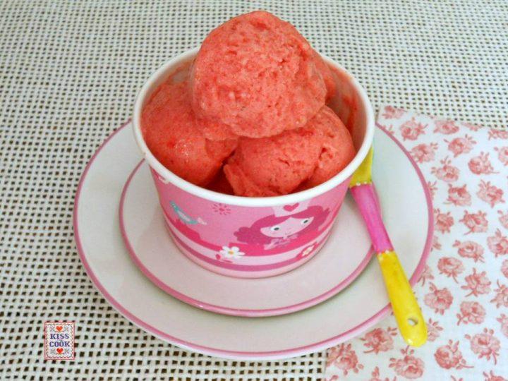 gelato alla frutta, senza gelatiera