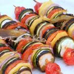Spiedini di verdure estive