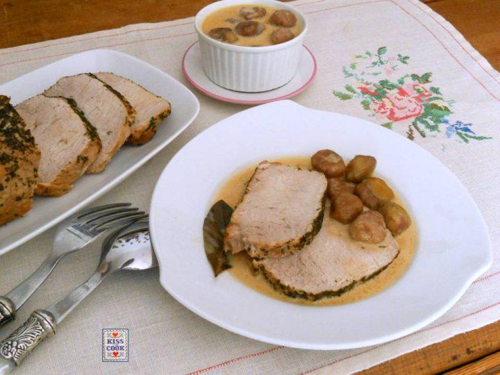 lonza di maiale con castagne