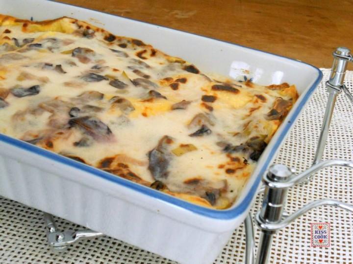 Lasagne con radicchio tardivo