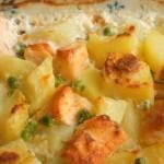 salmone e patate gratinato
