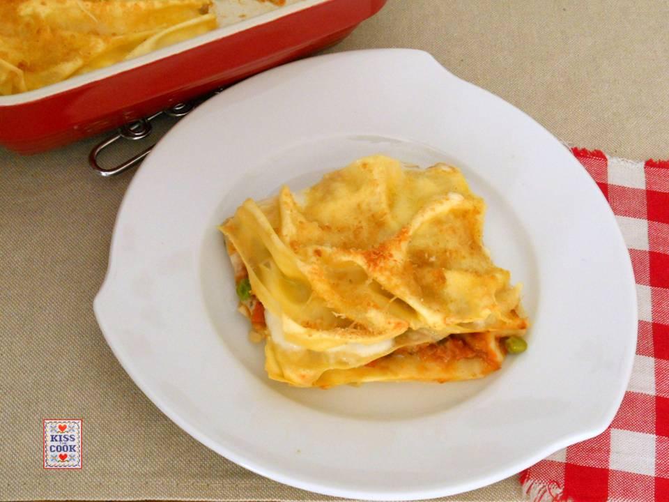 LASAGNE CON RAGU' DI VERDURE - ricetta vegetariana