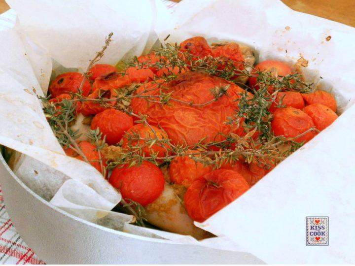 pollo freddo e pomodori