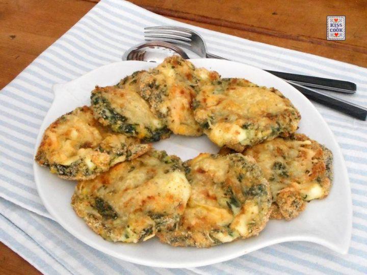 Schiacciatine agli spinaci e uova