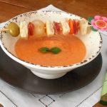 Gazpacho di melone con spiedino goloso