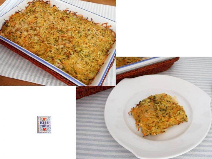 Merluzzo in crosta di patate e zucchine