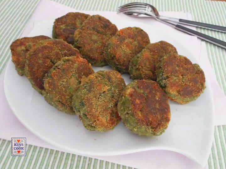 Polpette con fagioli zucca e spinaci