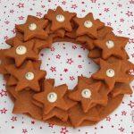 Coroncina di biscotti speziati
