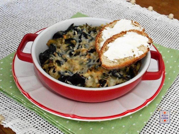 Carciofi e spinaci gratinati