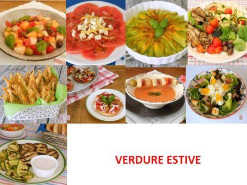 Raccolta di ricette con le verdure estive