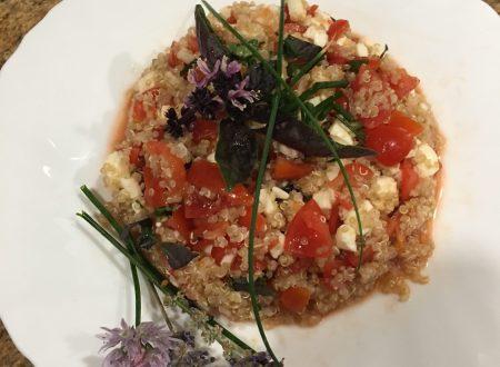 Caprese di quinoa aromatizzata