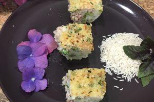 Tortino di riso con verdure
