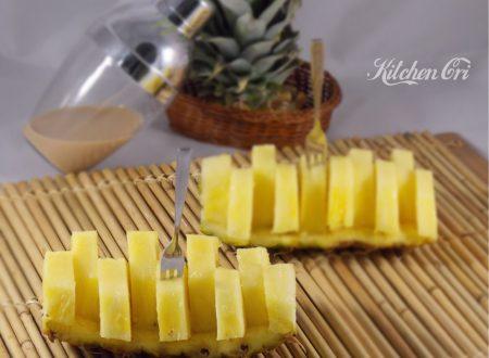 Ananas al forno -con bayles-