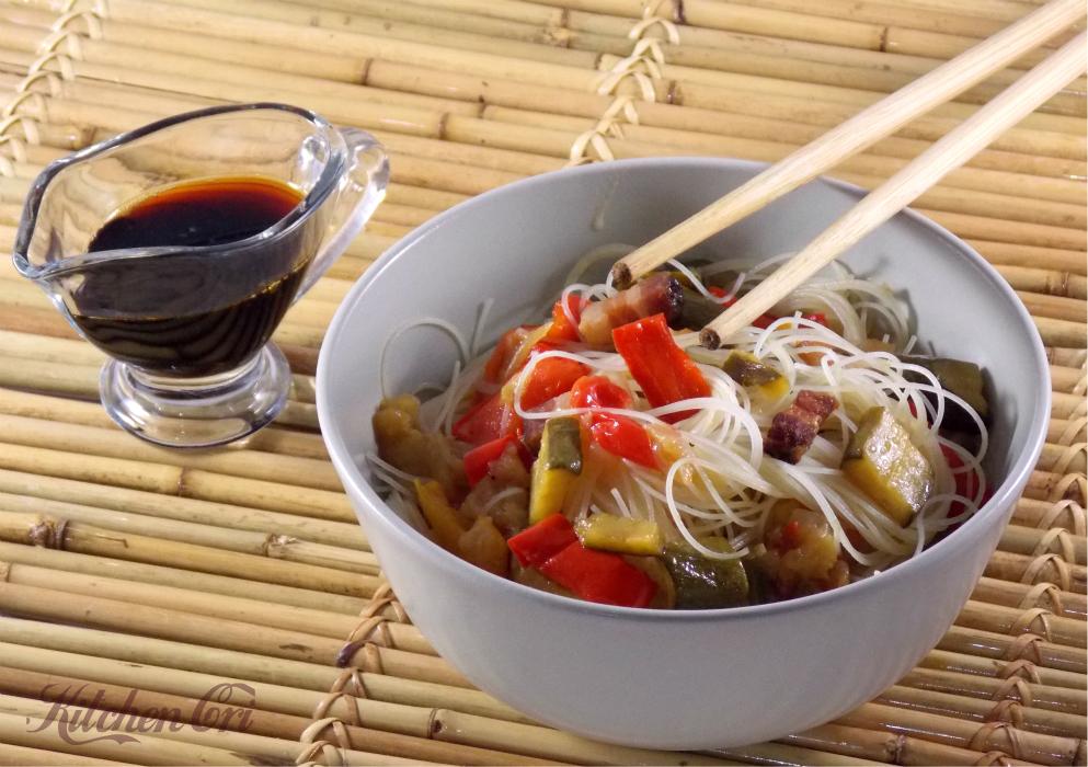 Spaghetti cinesi alle verdure